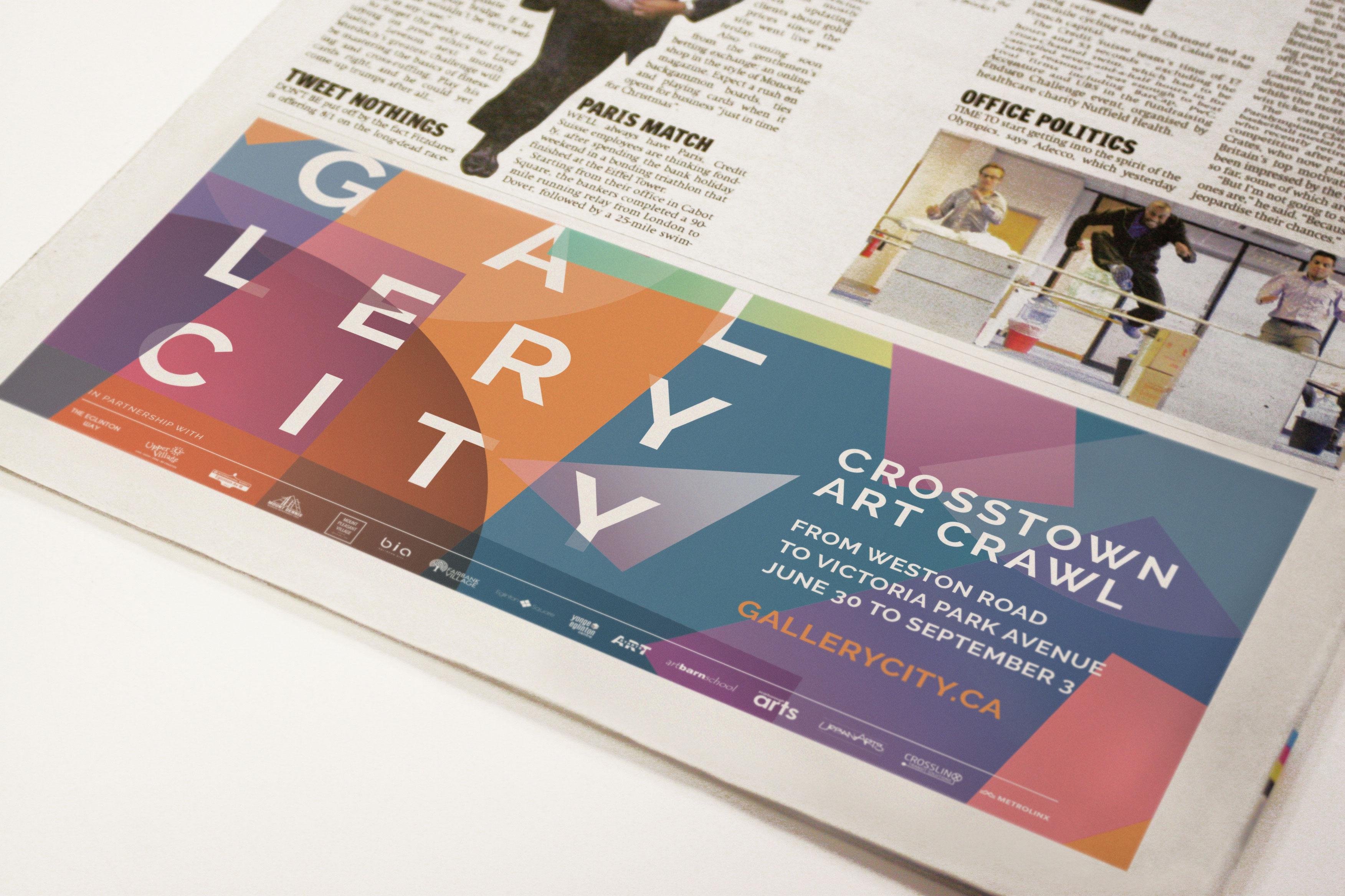 colorful newspaper ad