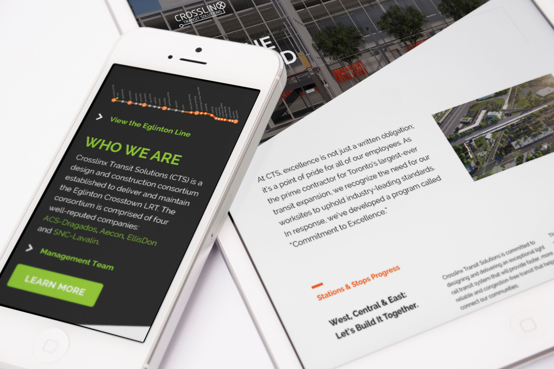 mobile phone showing the crosslinx website