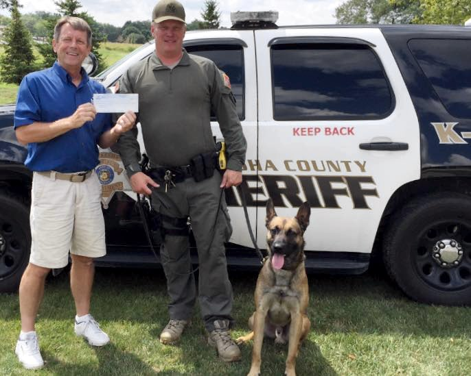 Badgerland Pressure Cleaning sponsors Waukesha County K9 Unit