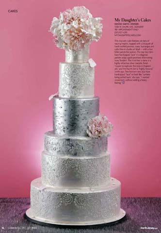 Silver and Lace Wedding Cake Luxury Wedding Cake