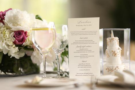 White & Gold Mini Wedding Cake Favors