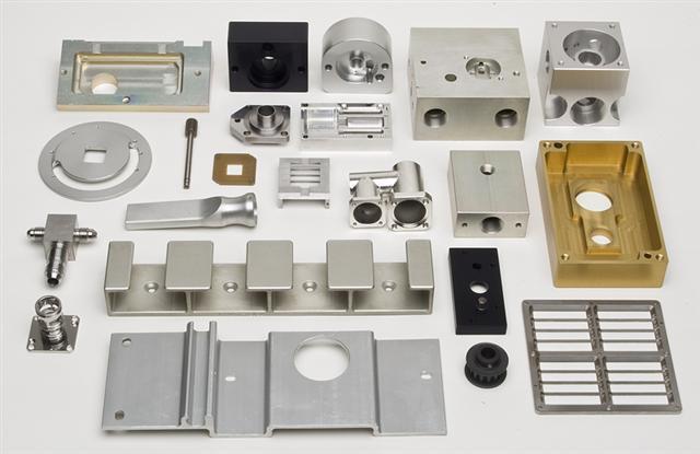 数控铣削工件多种不同的材料