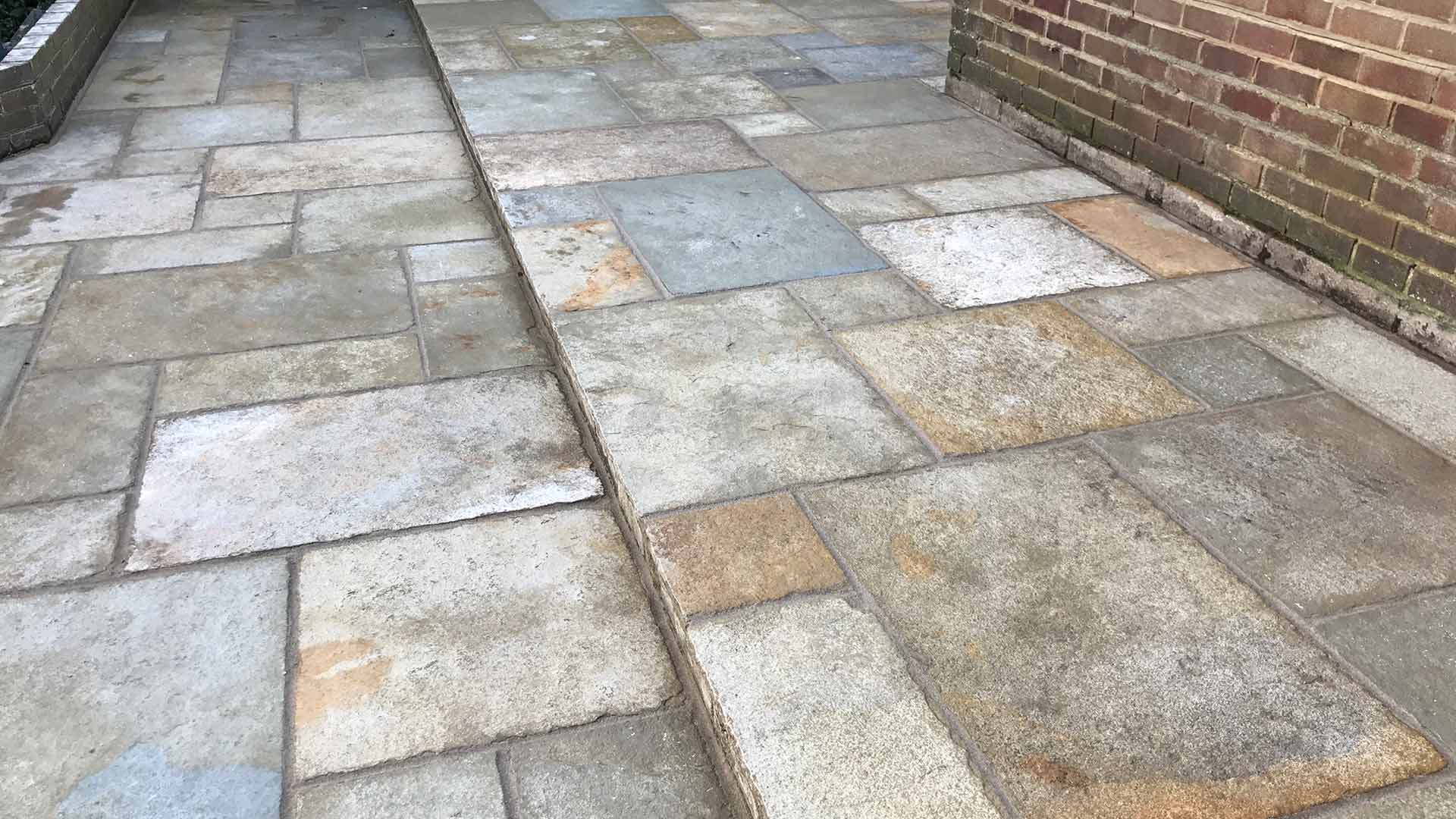 photo of a stone patio by Hardy Paving Sussex