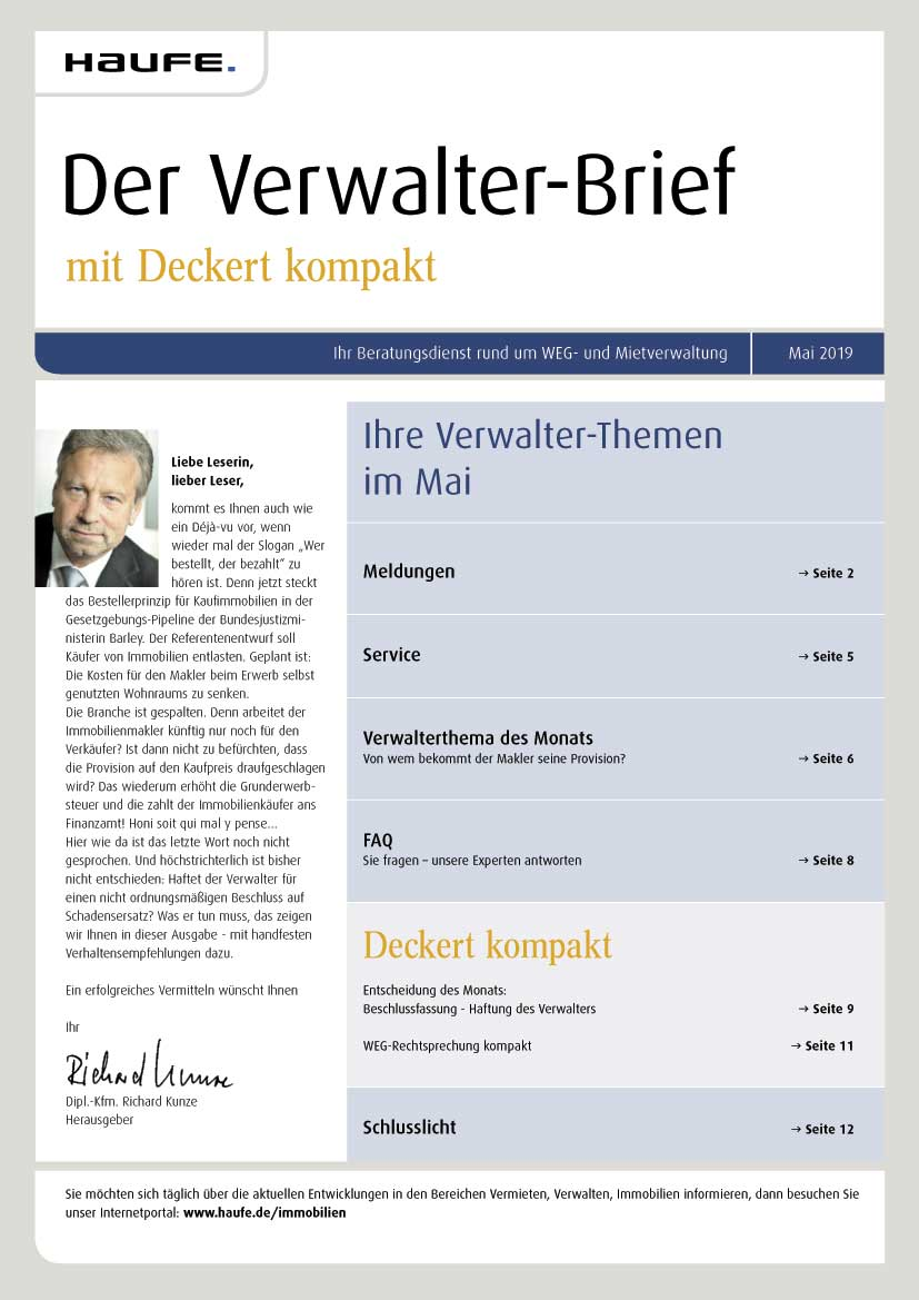 Verwalter Brief