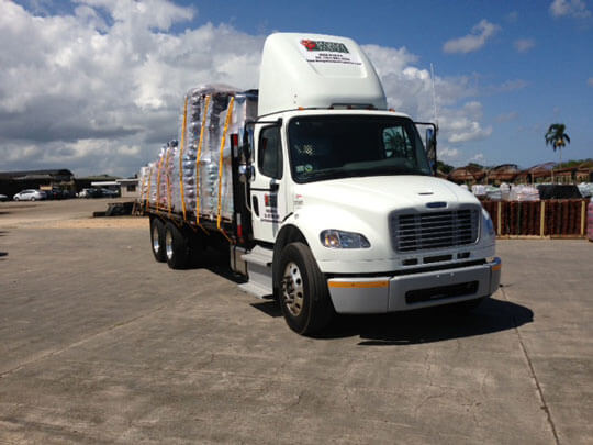 Margo Garden Products Delivery Truck - Logistic Solutions