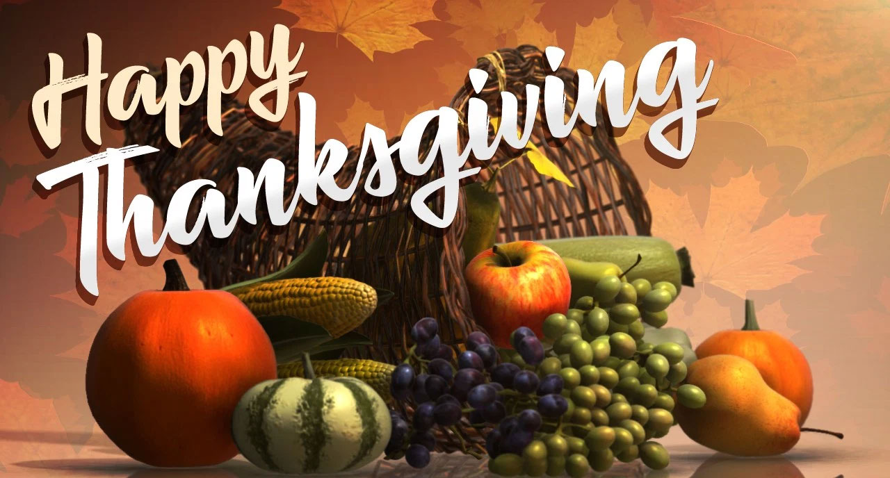 We Will Be Closed For Thanksgiving!