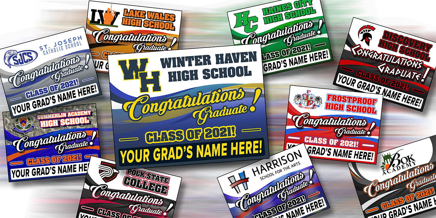 2021 Graduation Yard Signs