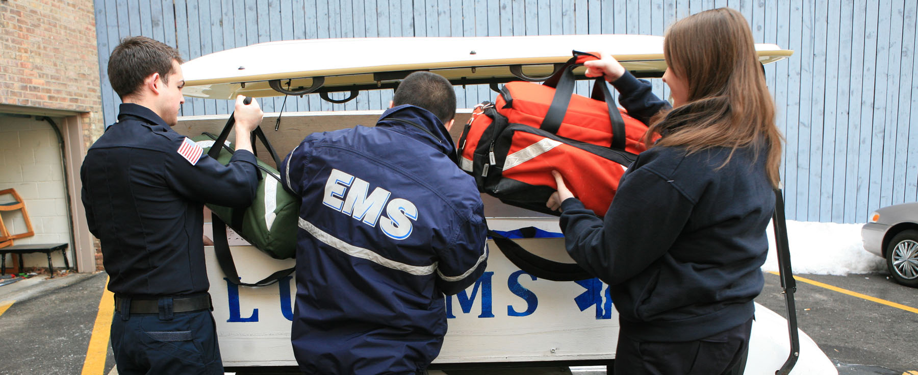 Photo of EMS professionals at work.