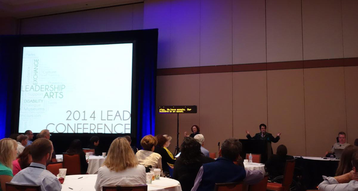 Photo of presentation from 2014 LEAD conference.