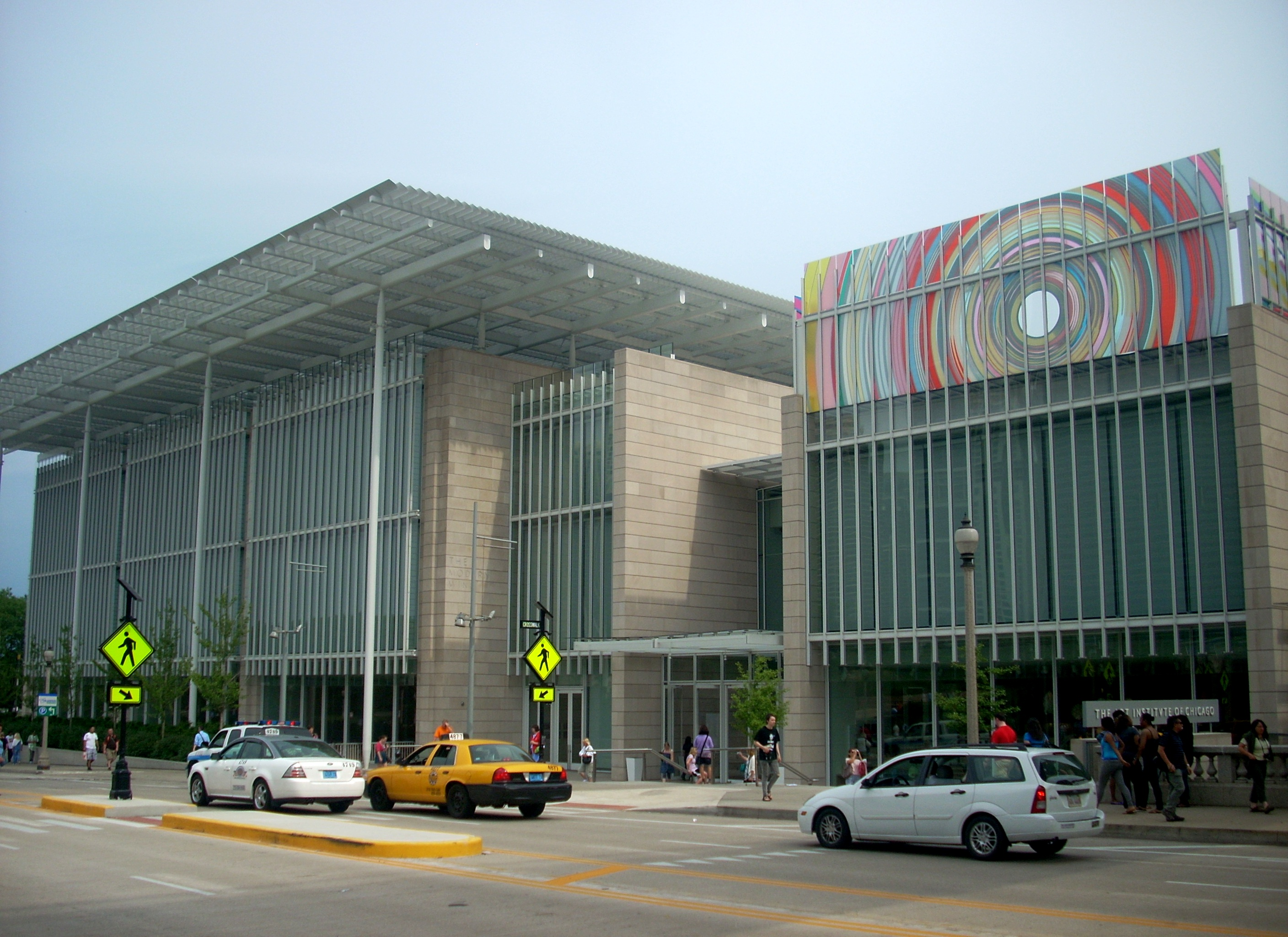 Image of the exterior of the Art Institute of Chicago Modern wing
