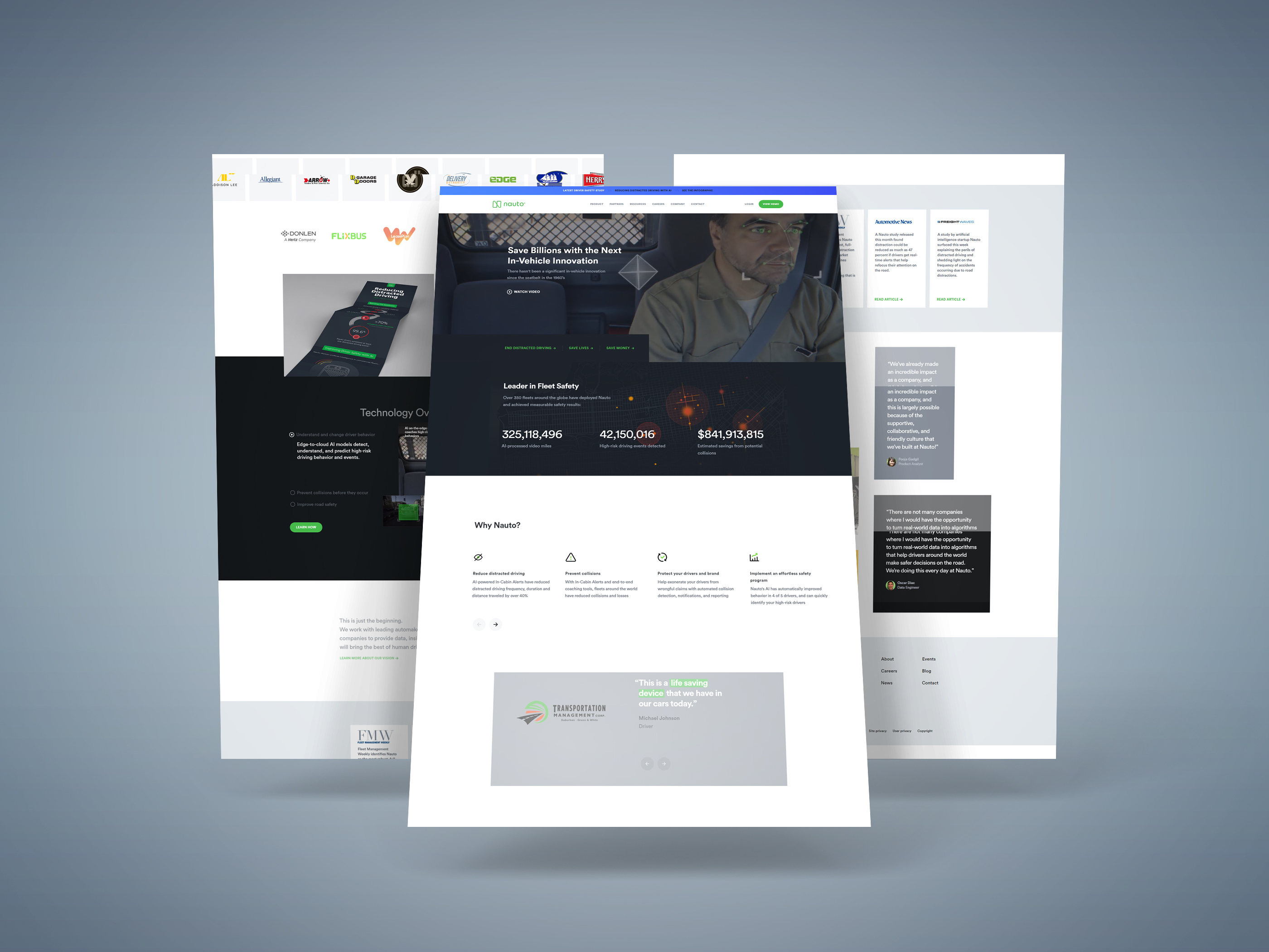 Nauto Website Webflow Redesign