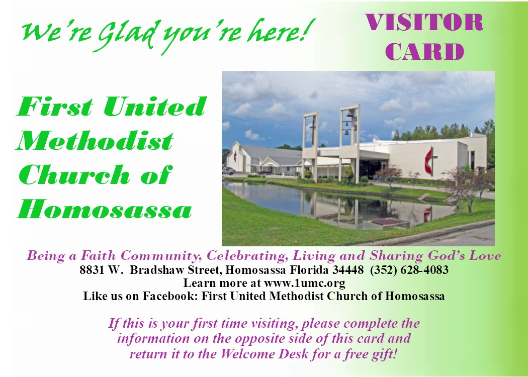 Printable visitor card
