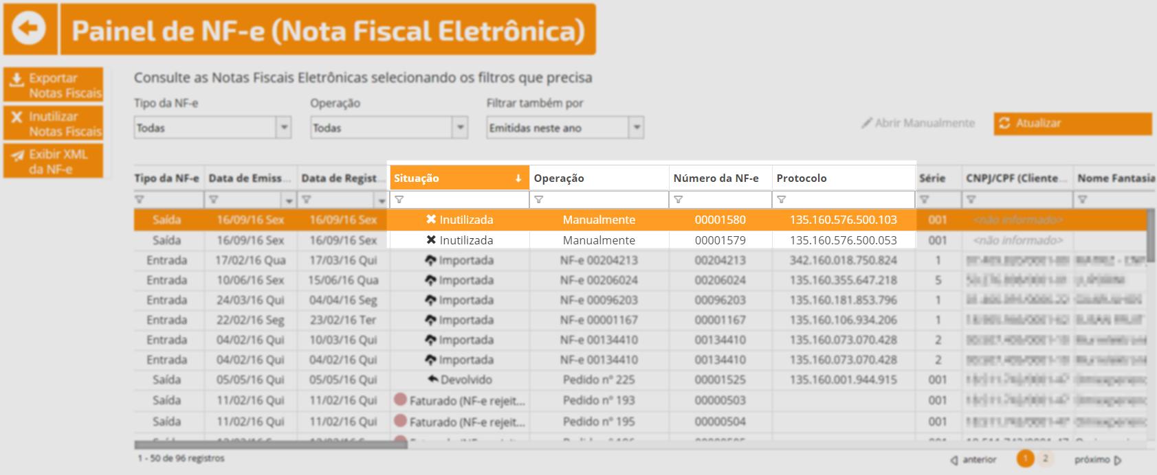 sistema nota fiscal eletronica
