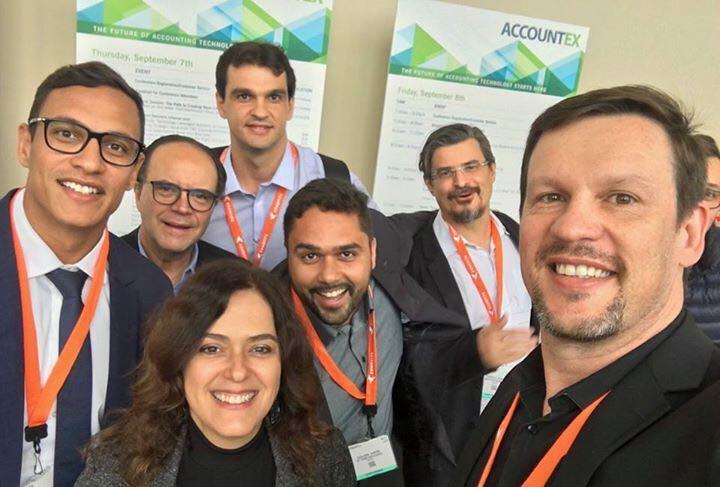 Brasileiros pela Accountex USA 2017: André Adolfo (Natal/RN), Gabriel Jacinto (SP), Cristiane (RJ), Richard (RJ), Edilson Júnior e Roberto Dias Duarte
