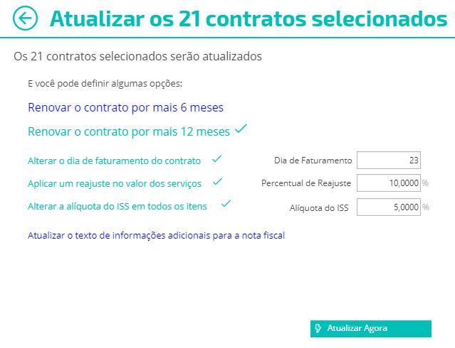 """Indique as informações que deseja atualizar e finalize clicando no botão """"Atualizar Agora"""""""