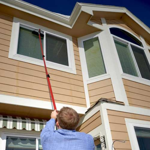 House windows being cleaned in Castle Rock, CO.