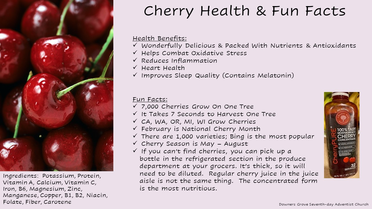 Cherry Health Facts