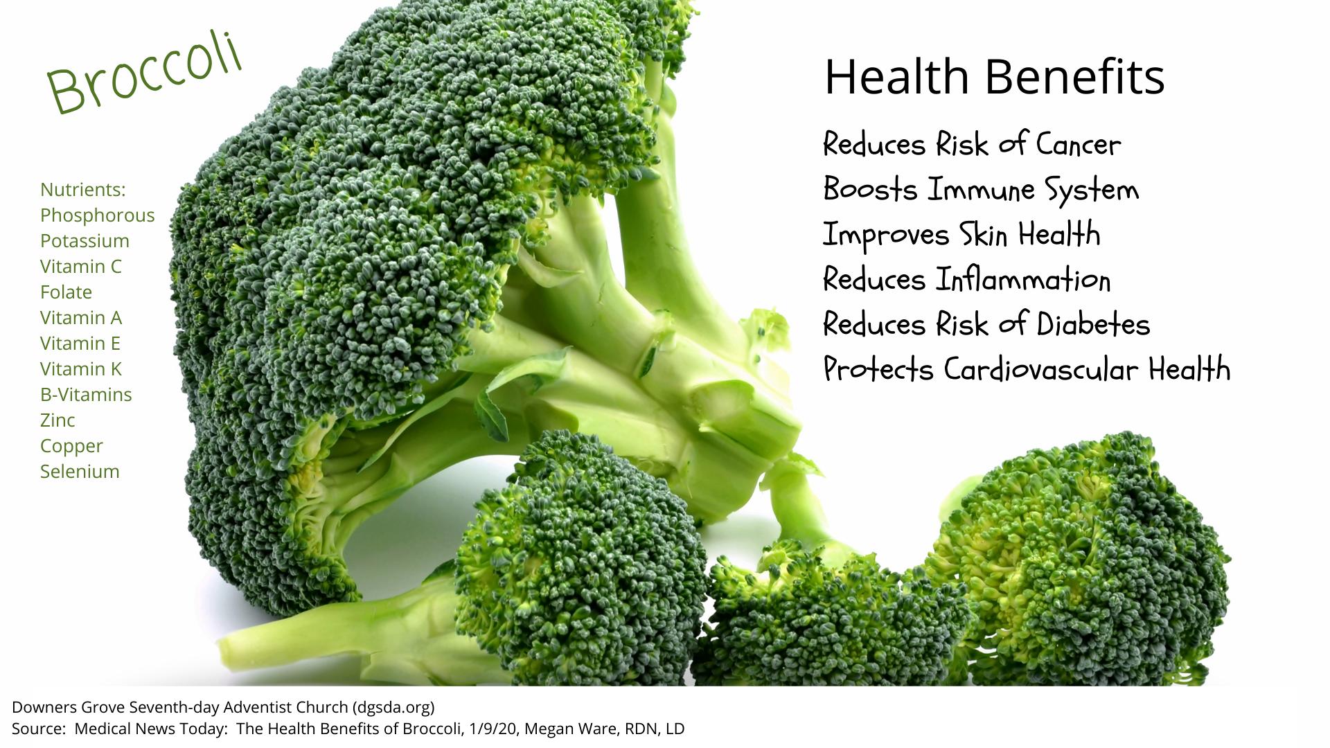 Health Benefits of Brocoli