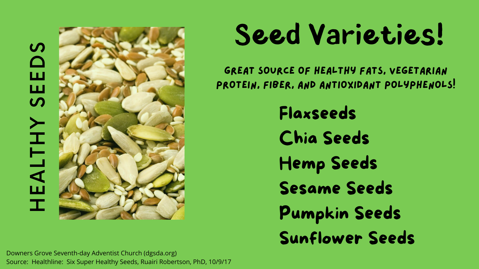 Kinds of Seeds to Eat