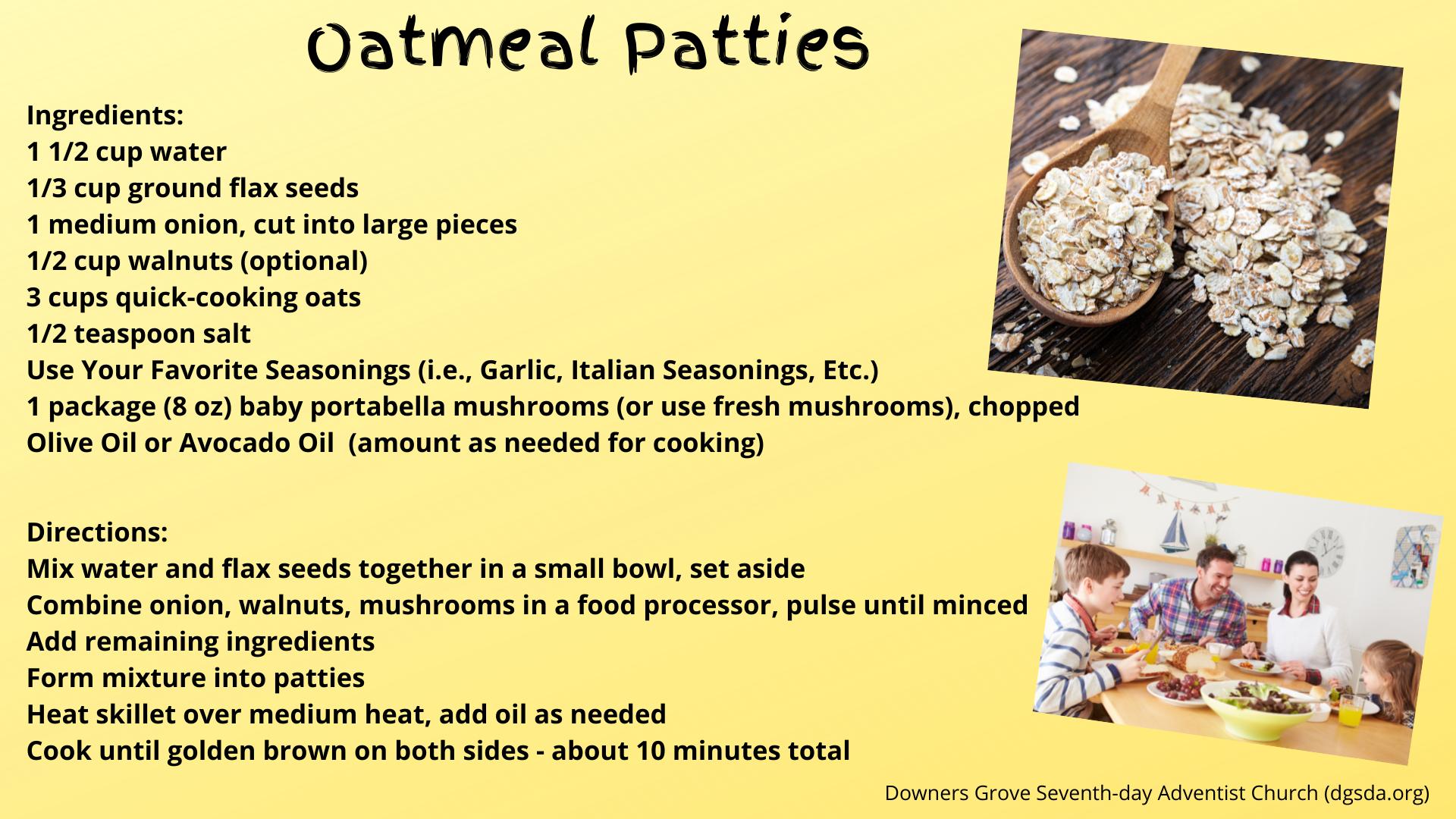 Oatmeal Patties
