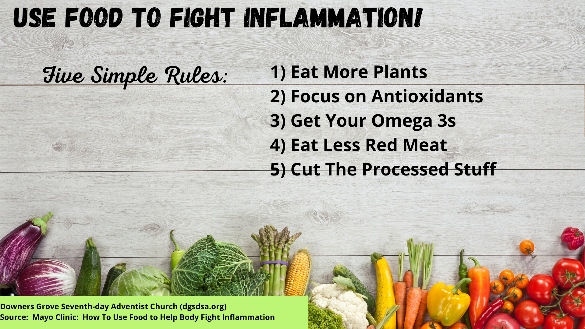 Foods To Help Fight Inflammation