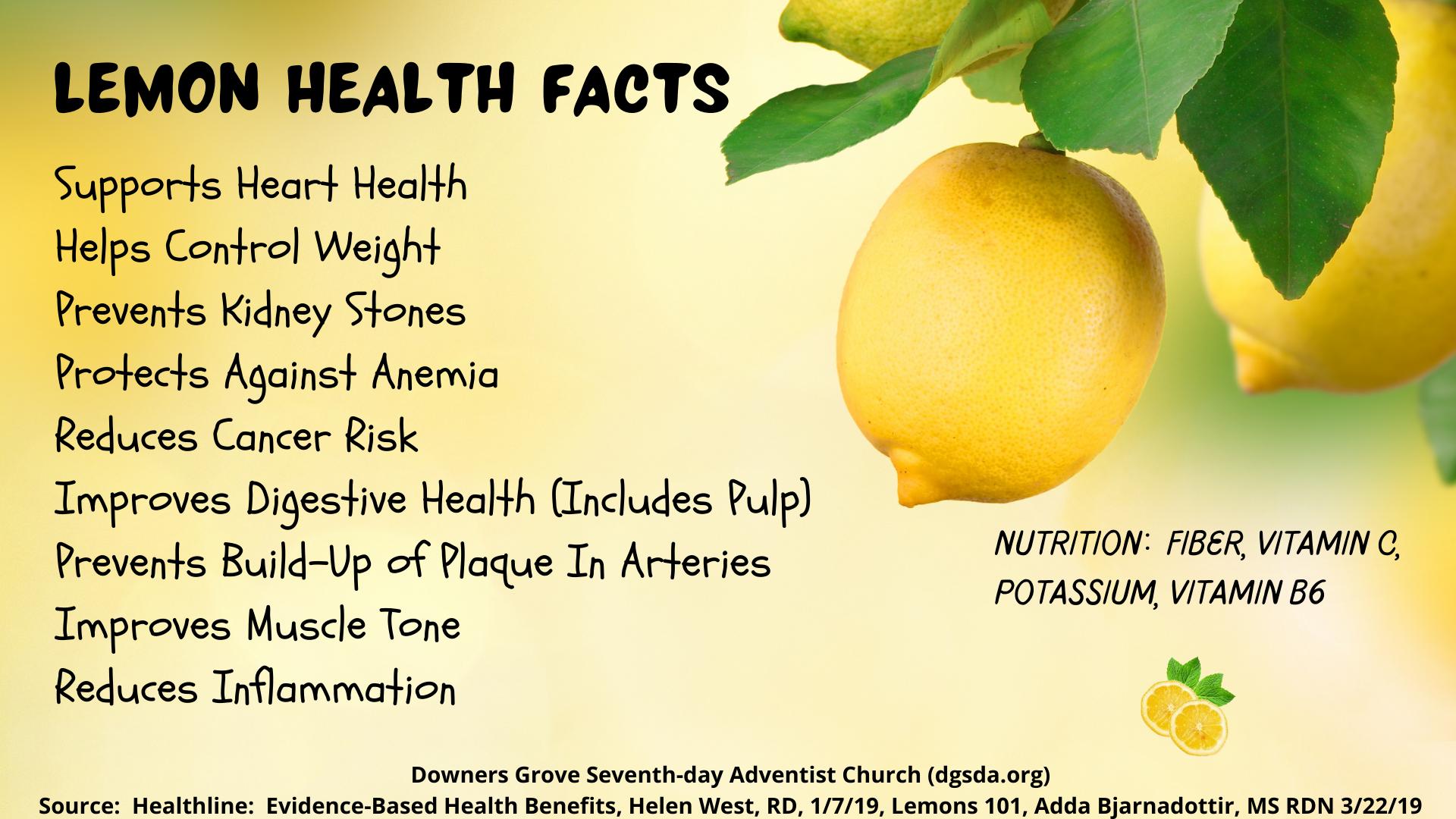Lemon Health Facts