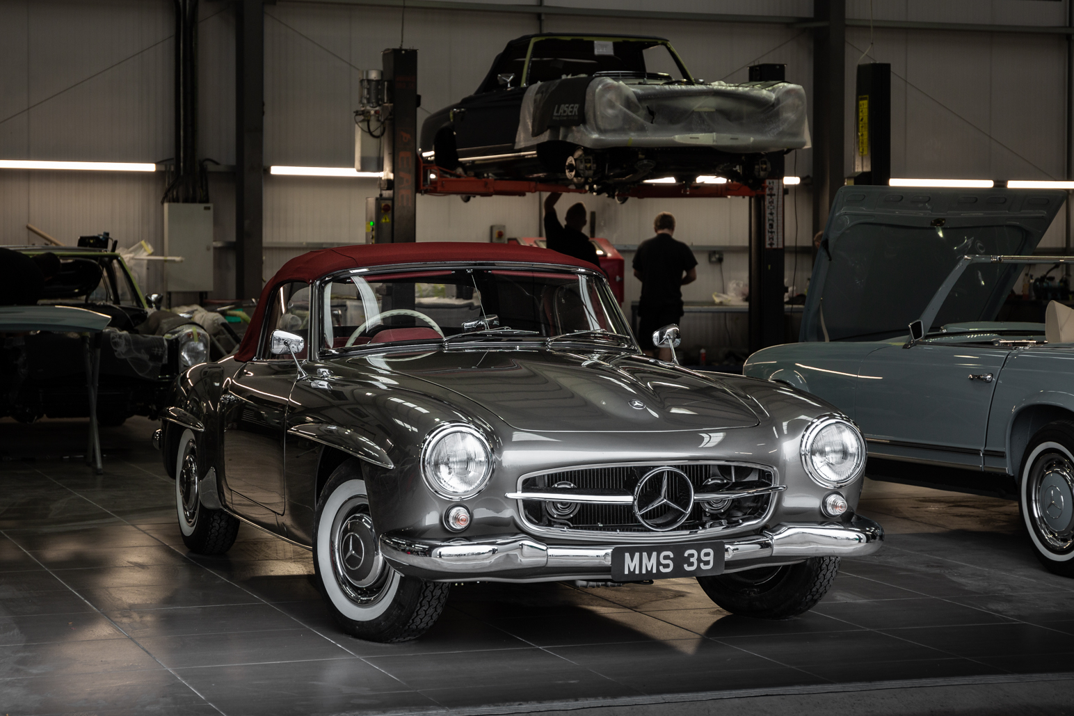 Mercedes-Benz W121 190SL  ready for Drive Test at Hemmels