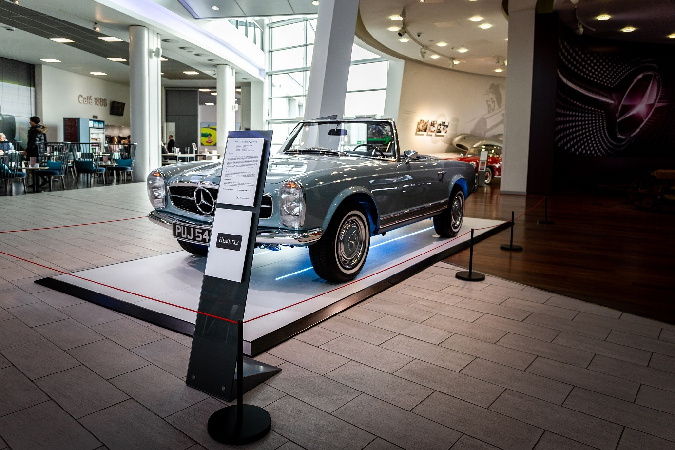 Drivers Side W113 280SL Pagoda, Mercedes-Benz World, UK