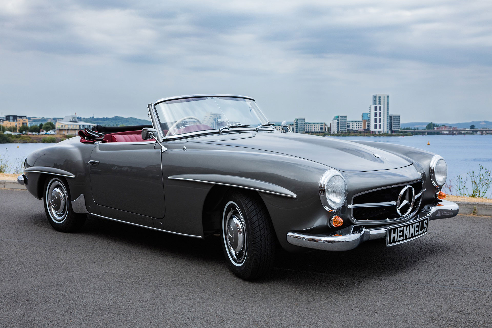 Classic 1963 Mercedes-Benz W121 190SL Roadster in Anthracite with red interior