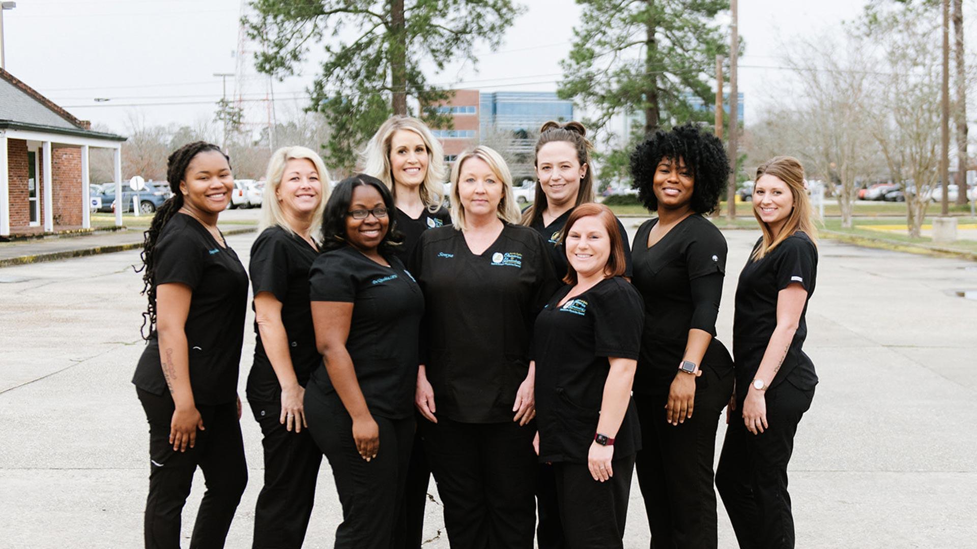 The team of nurses at North Oaks OBGYN.