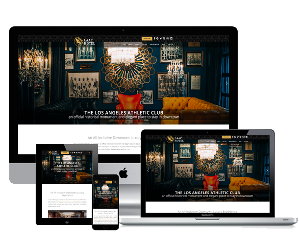 laac hotel website across screens