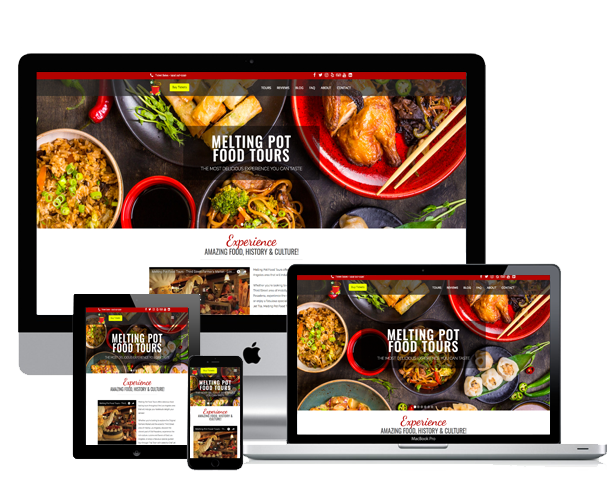 melting pot food tours website across device