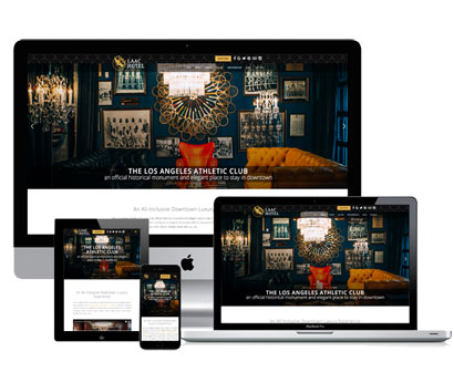 los angeles athletic club hotel website across device