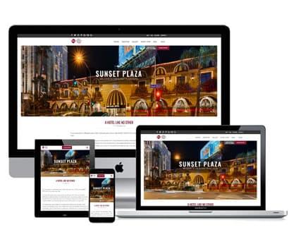 los angeles athletic club hotel website across device