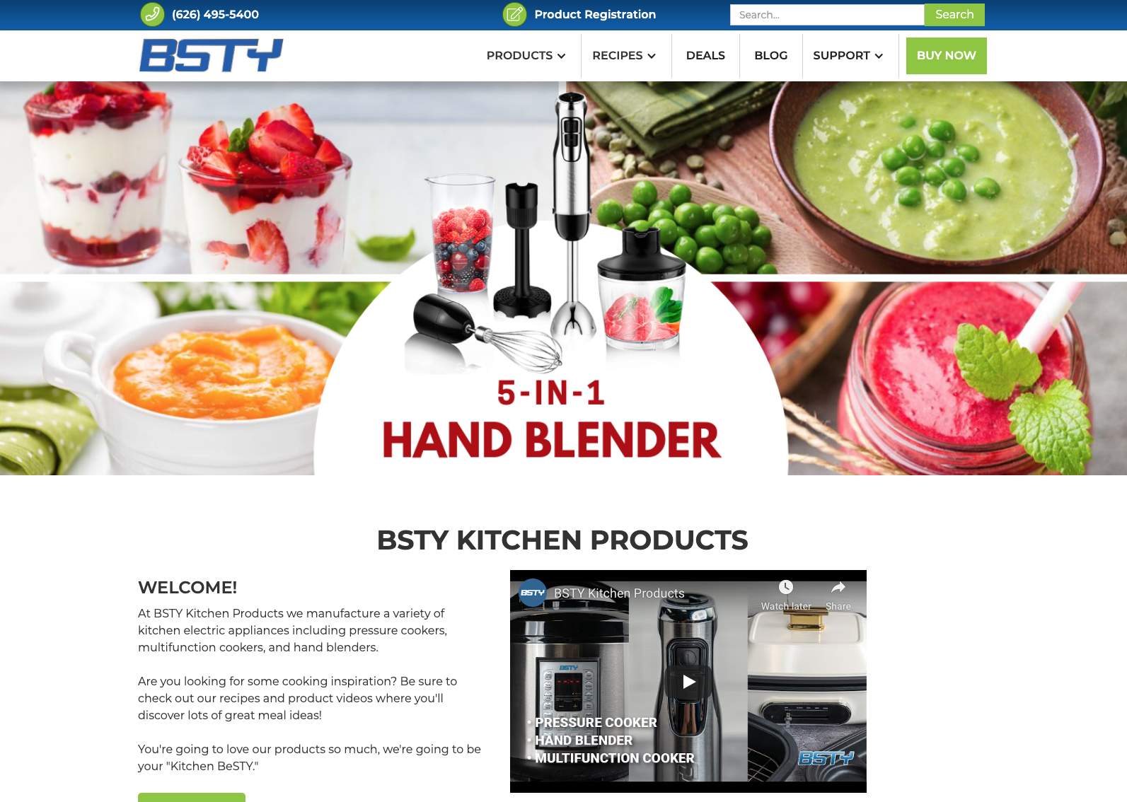 BSTY Kitchen Products website