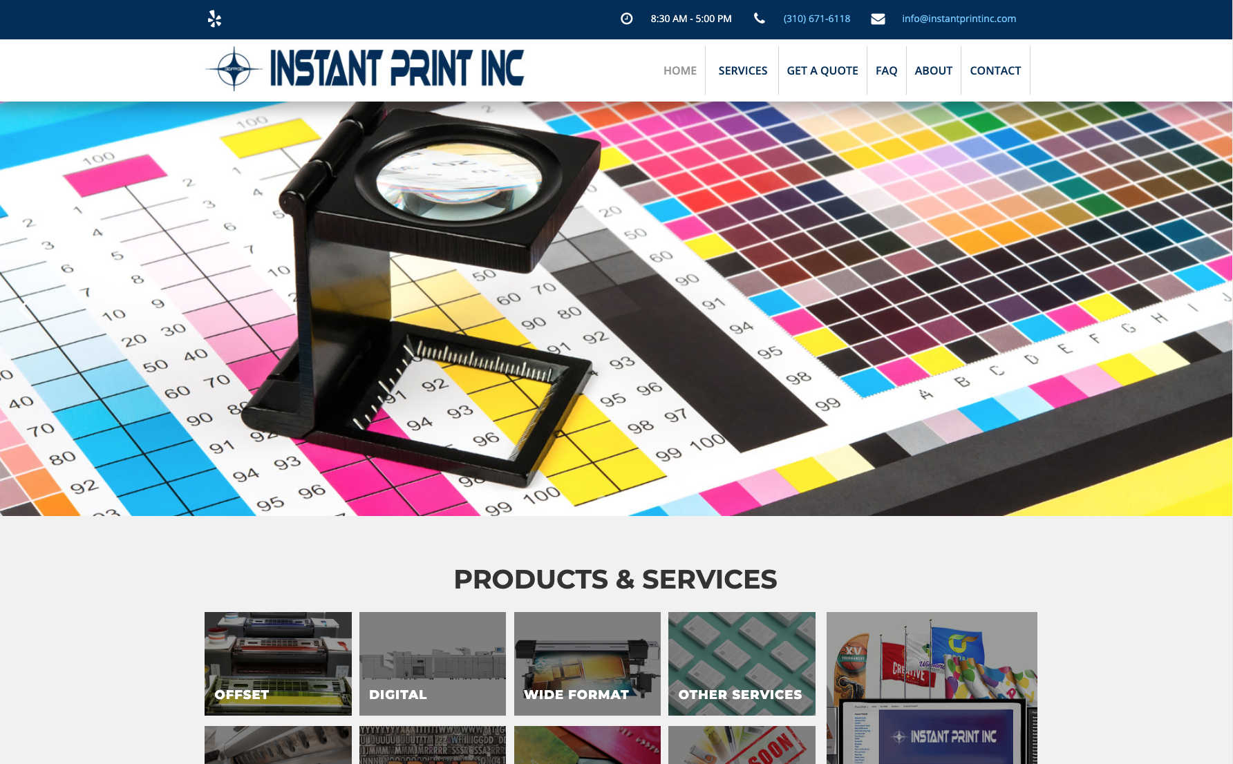 Instant Print INC website across screens