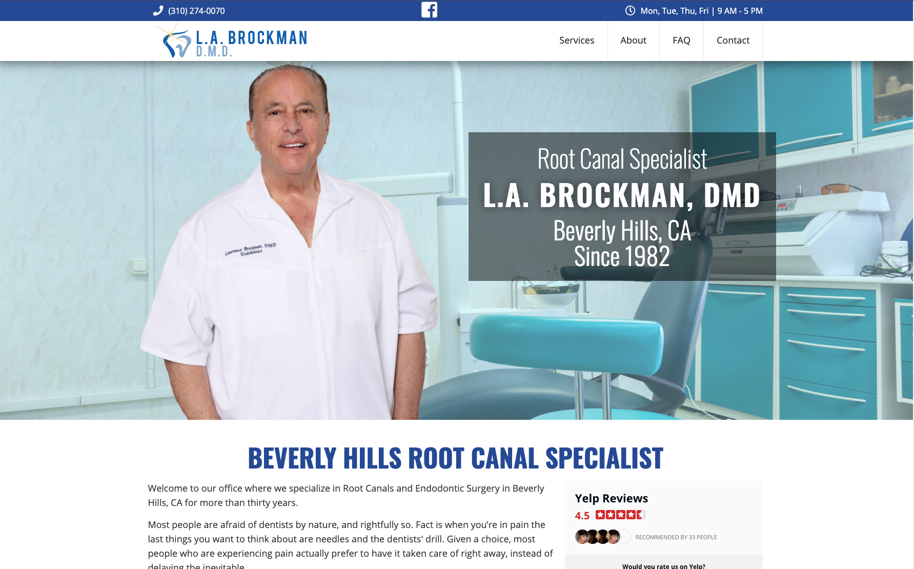 Brockman DMD website across screens