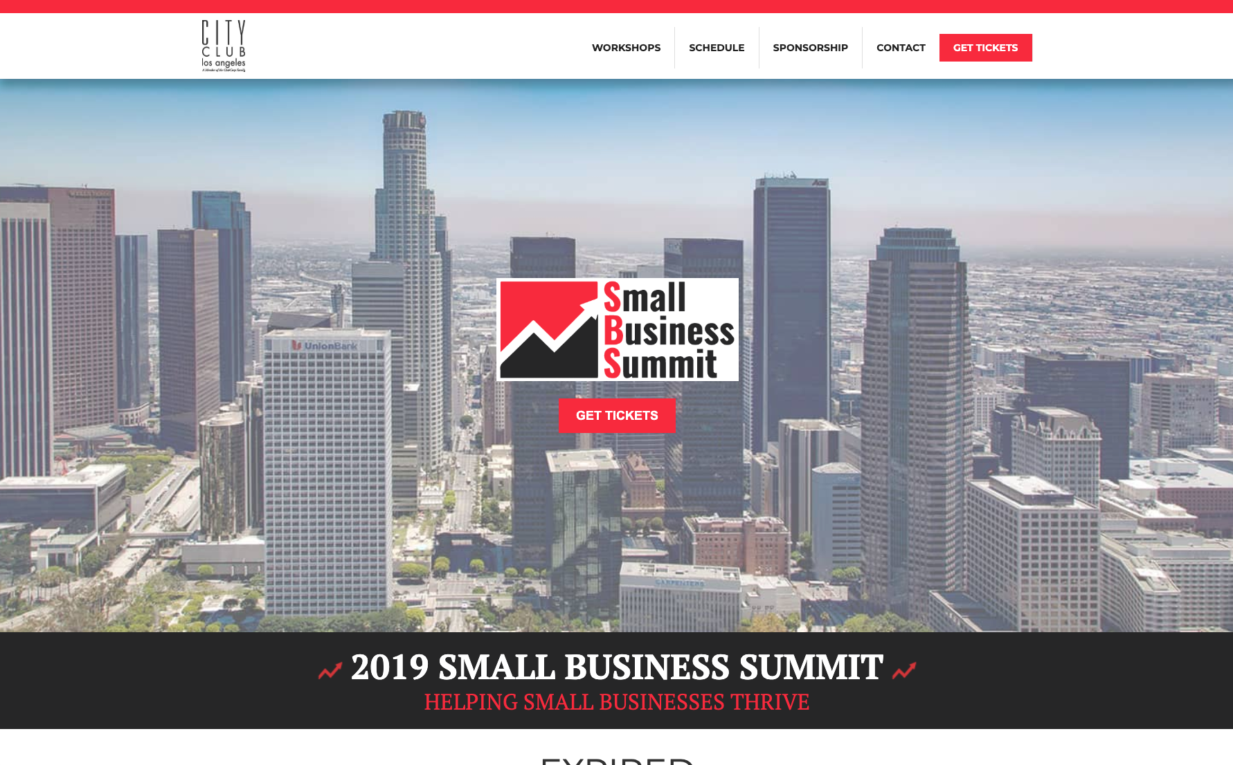 Small Business Summit hotel website across screens