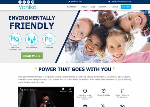 Voniko Batteries website