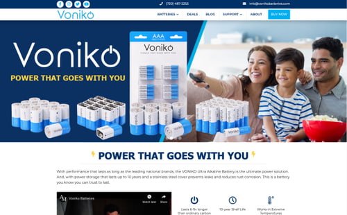 Voniko Website Design