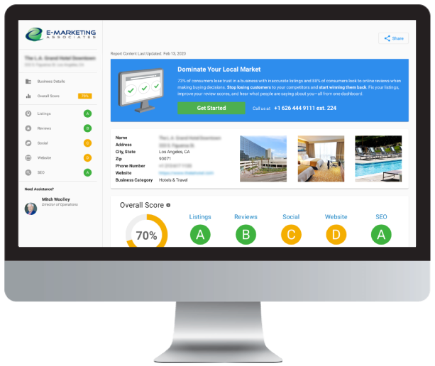 Monitor with Free Business Report sample
