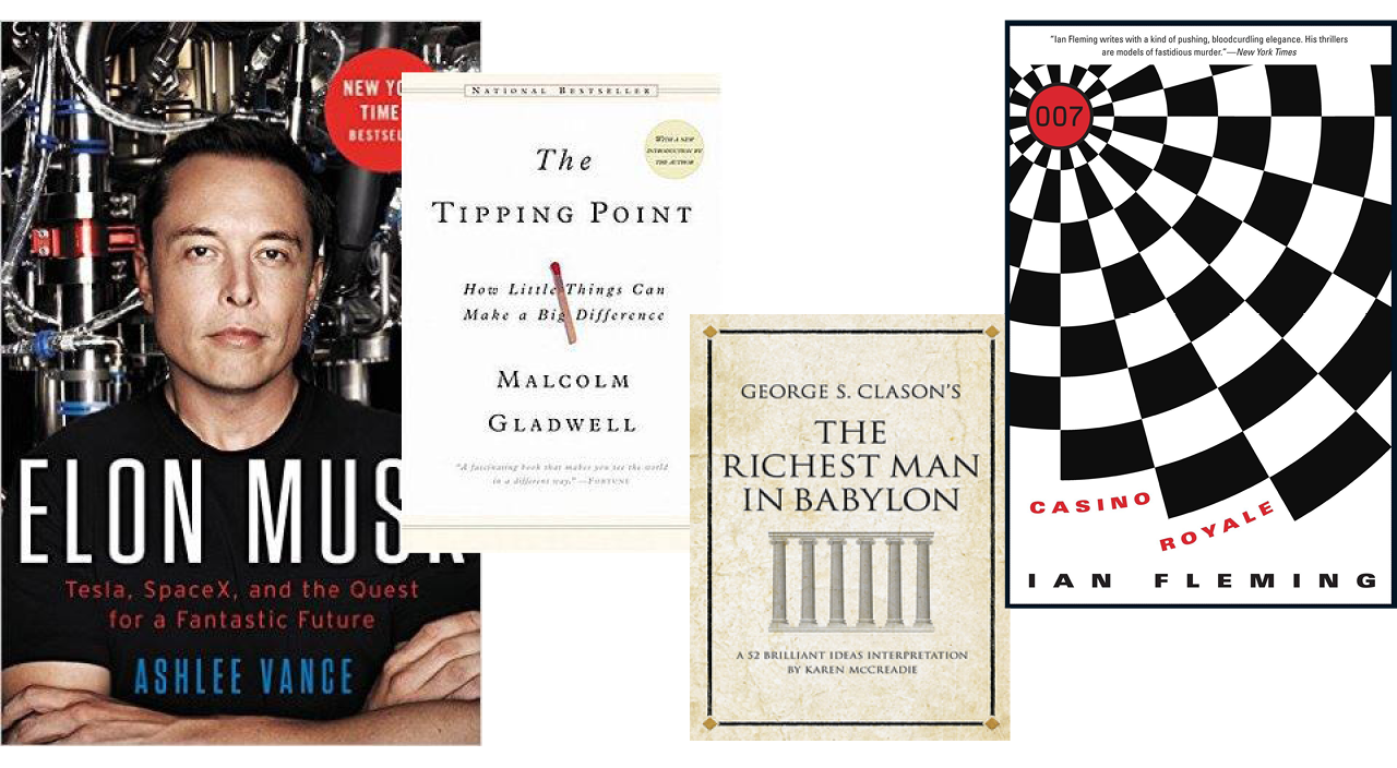 The Book Blog Elon Musk, The Tipping Point, The Richest Man in Babylon, and Casino Royale Featuring