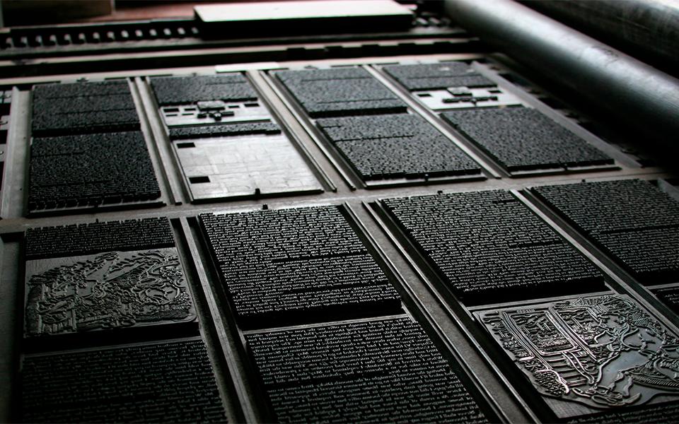 Tom Garnett Printing Press