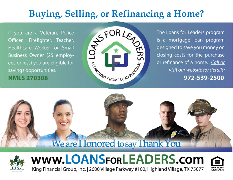 Loans for Leaders Small Teaser Flyer