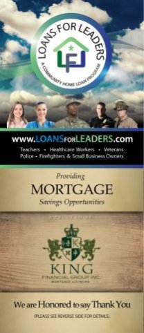 Loans for Leaders Flyer Slip Front