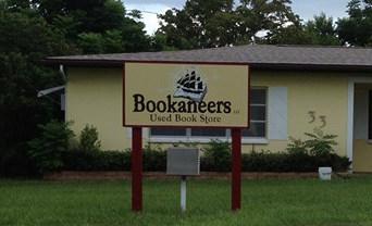 Bookaneers logo sign