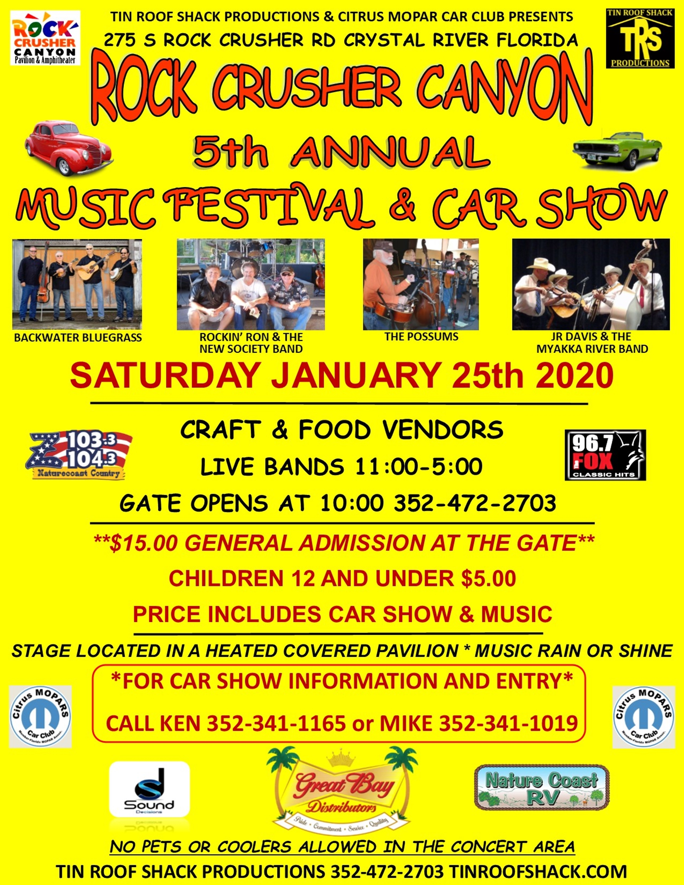 Music Festival and Car Show at Rock Crusher Canyon