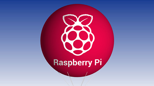 Raspberry Pi balloon in red