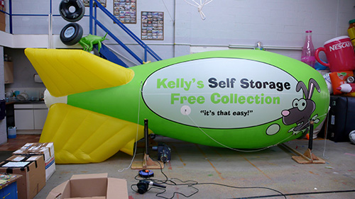 A blimp for Kell's self storage
