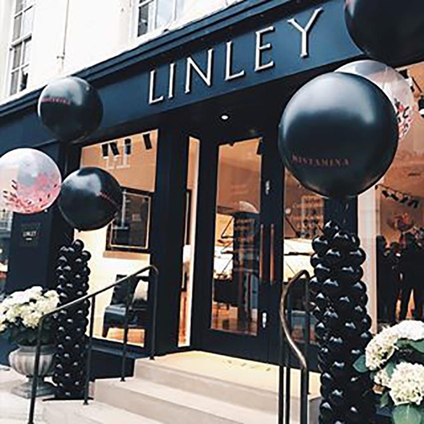 Balloon display outside London shop